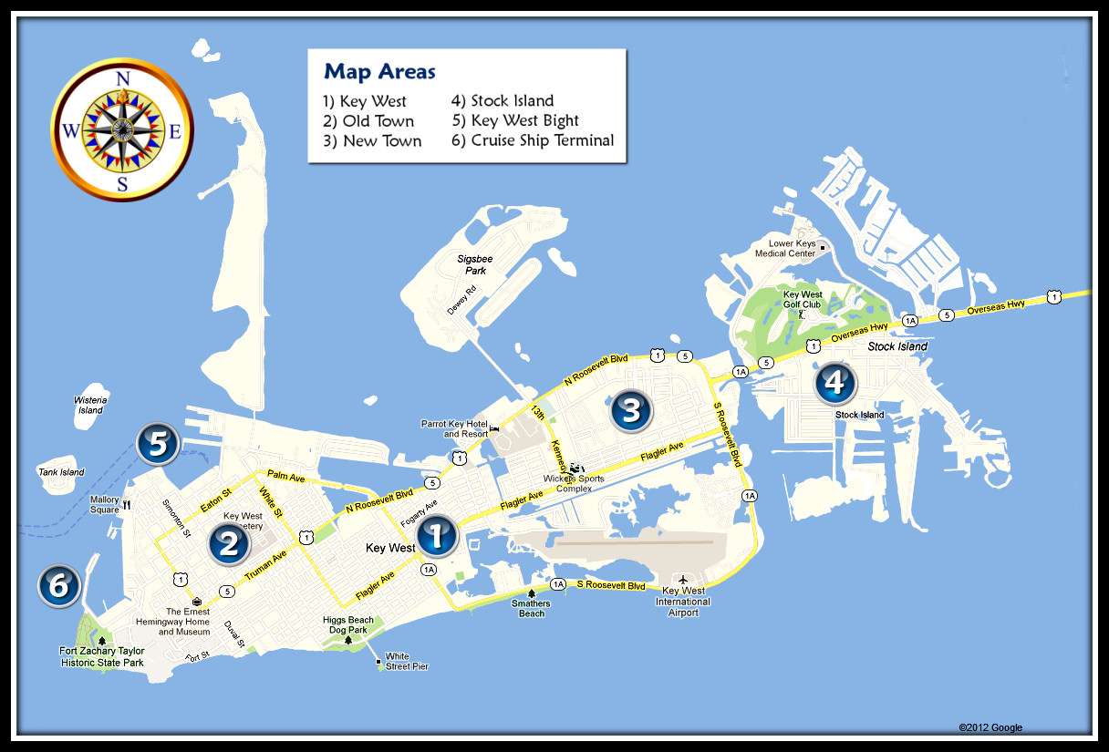 Key West Overview Map