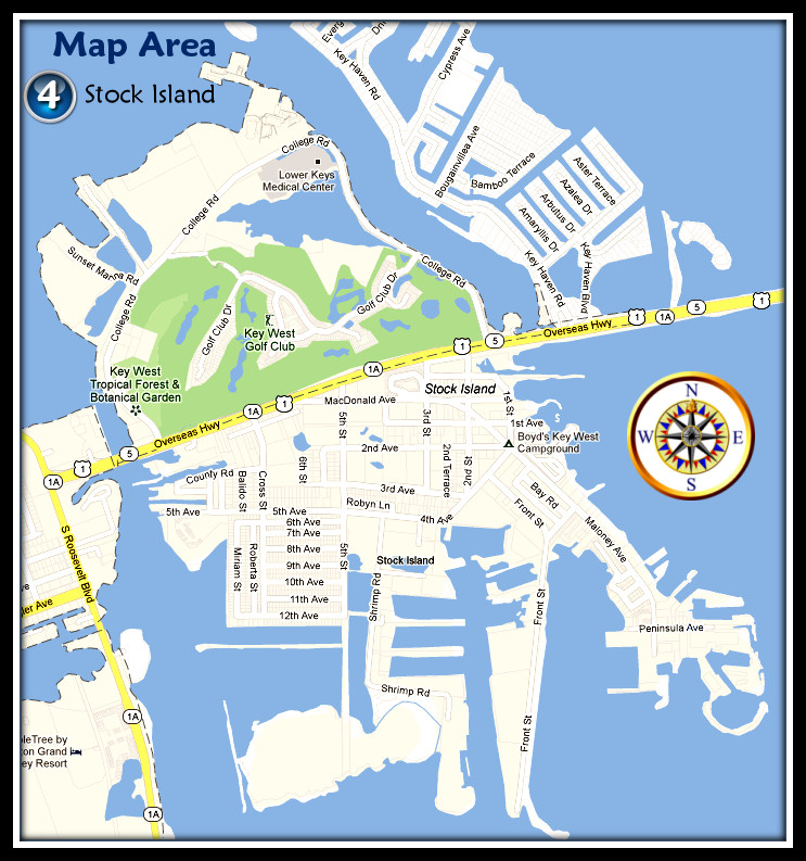 Map of Stock Island key West