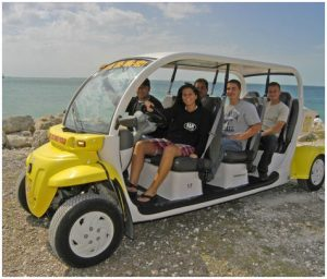Six Seat Electric Car Rental Key West