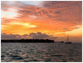 View the beautiful Key West Sunset