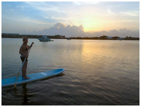 key west sunset paddleboard