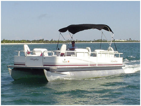 16 ft-pontoon boat rental