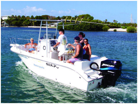 21-ft center console boat rental