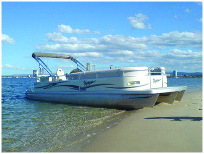 26-ft pontoon boat rental