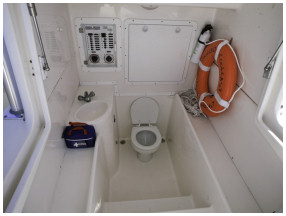 bathroom in boat